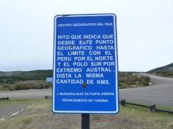 Punta Arenas (Stretto di Magellano) - 14 - Punto mediano del Cile