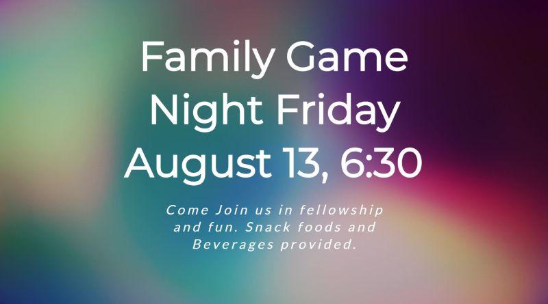 Family Fun Night!!