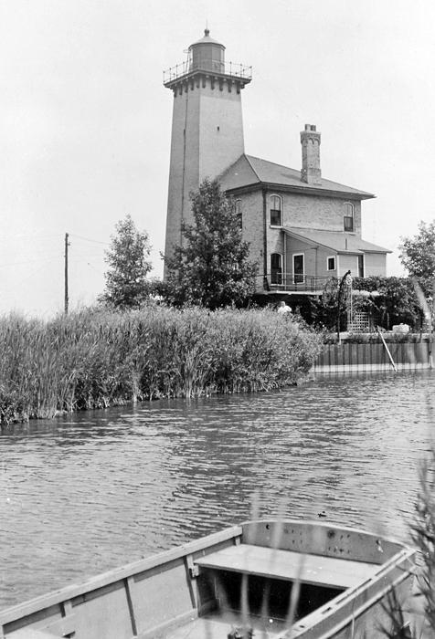 Saginaw River Rear Range Lighthouse Michigan at Lighthousefriendscom