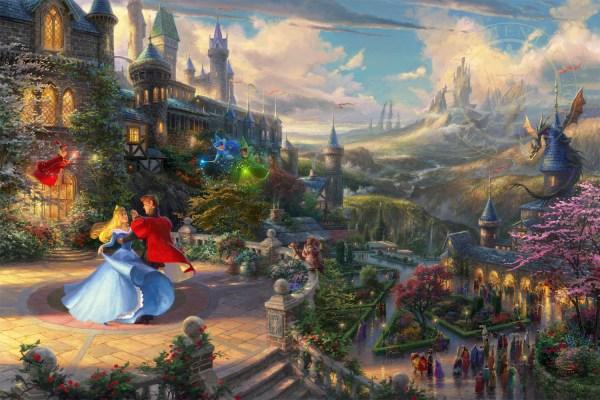 Thomas Kinkade Disney Sleeping Beauty