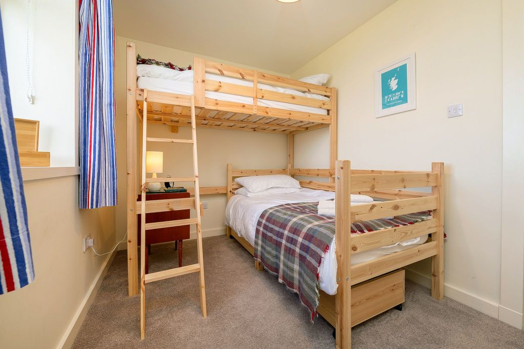 We have adult size bunks that kids love too