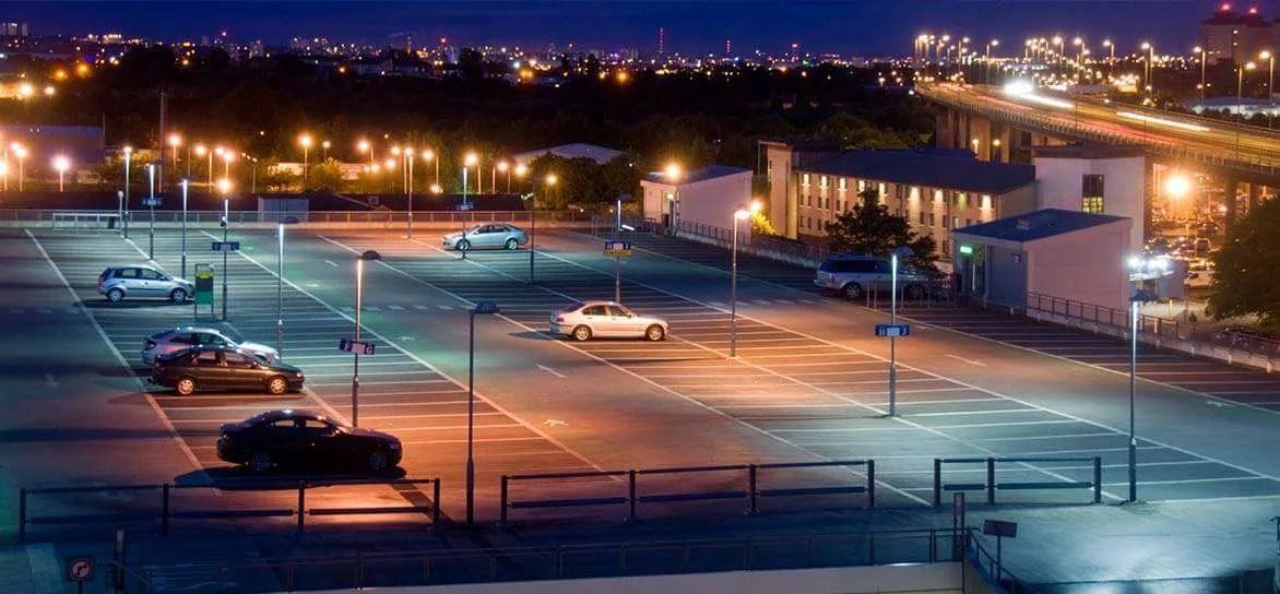 outdoor led parking lot lights power
