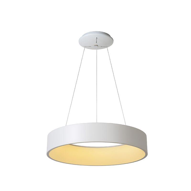 lucide talowe halo led ceiling pendant light white