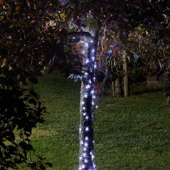 firefly cool white solar led micro wire fairy lights 100 lights