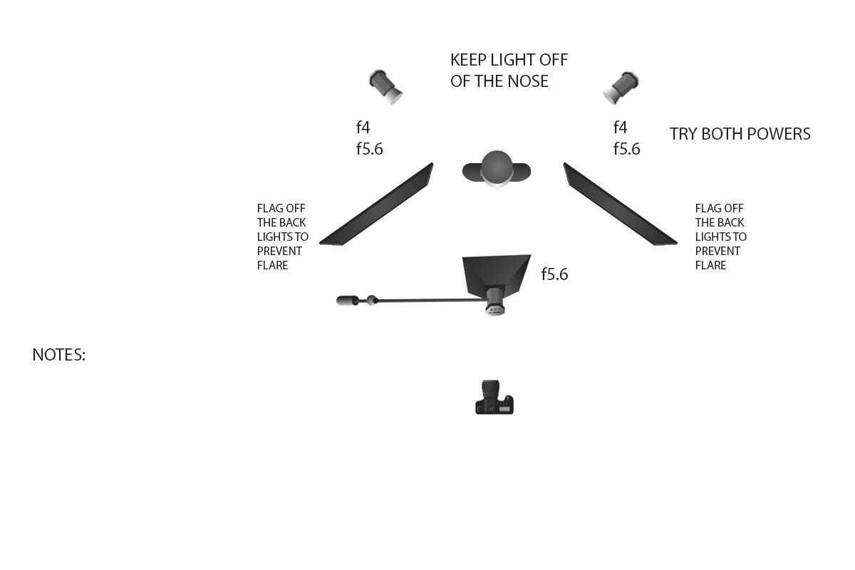 studio lighting diagram ethernet wall jack wiring 8 week portrait class two yousef karsh  essentials for