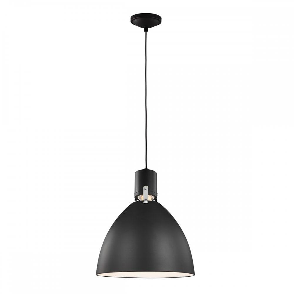 brynne medium led ceiling pendant in matte black