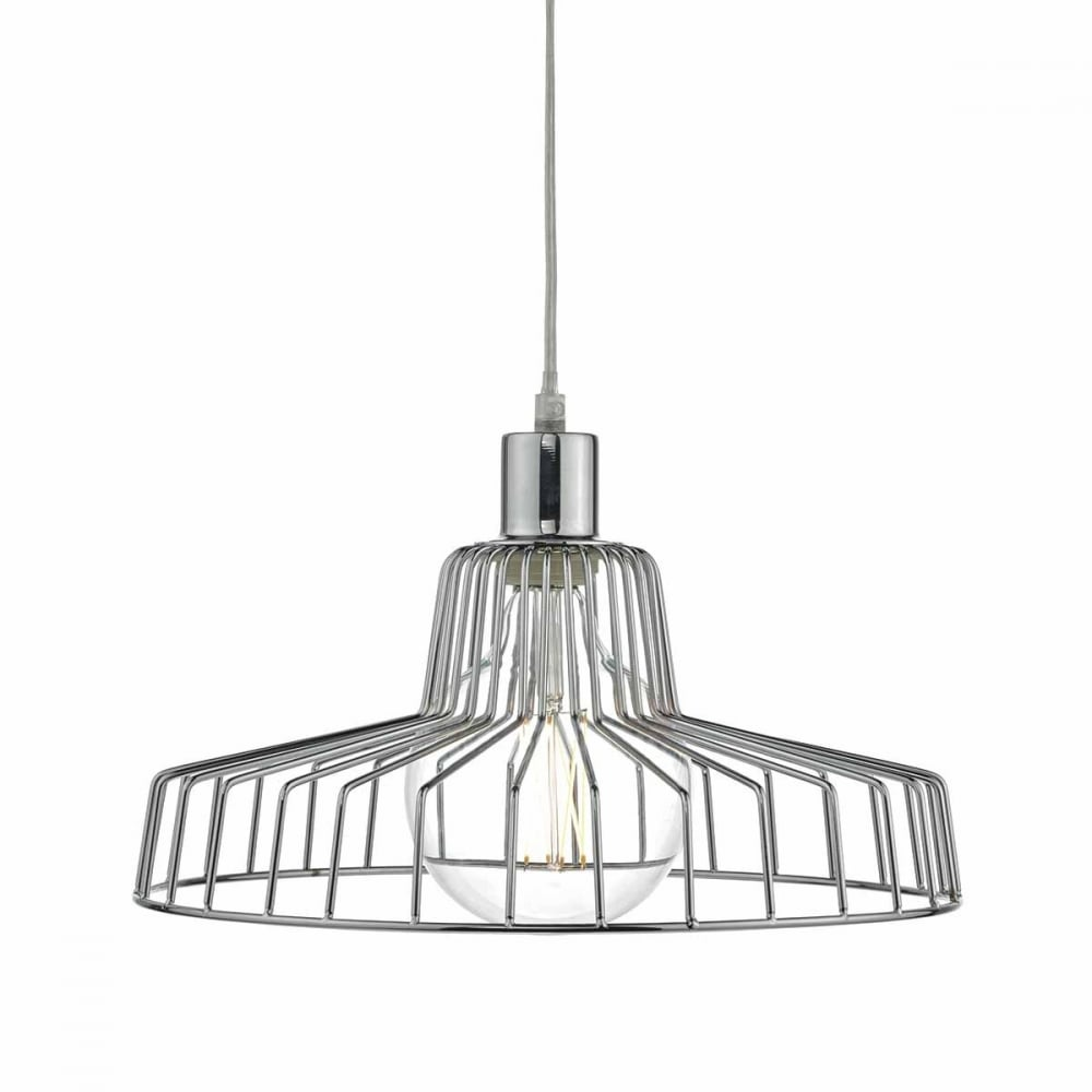 ENID Polished Chrome Easy Fit Frame Pendant Shade