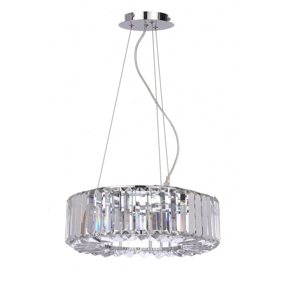 Small Chisel Crystal Bathroom Ceiling Pendant with LED