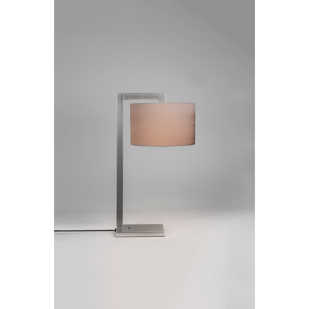 Contemporary Table Lamp Shade Matte Nickel Lighting And Lights Uk