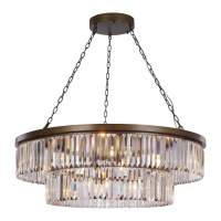 Crystal and Antique Bronze 10 Light Chandelier | Lighting ...