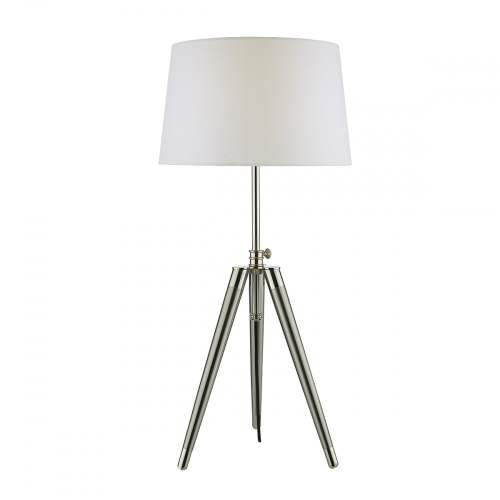 small resolution of brushed nickel and satin chrome tripod table lamp