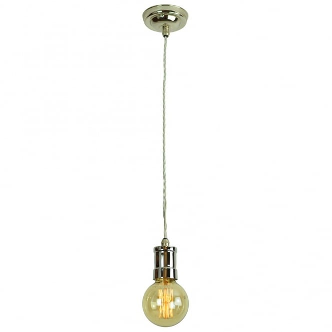 Single Pendant Light Fitting with vintage filament bulb