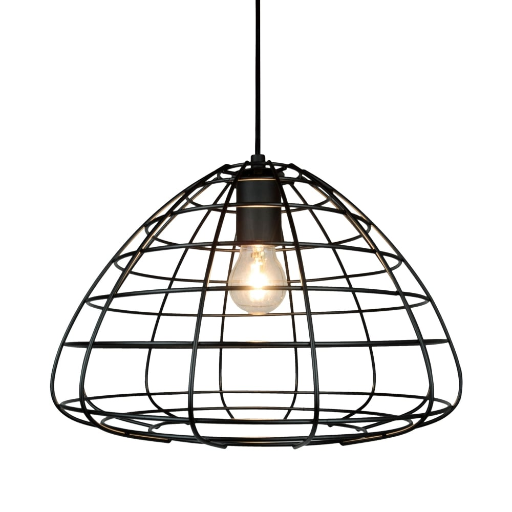 Black Wire Frame Ceiling Pendant