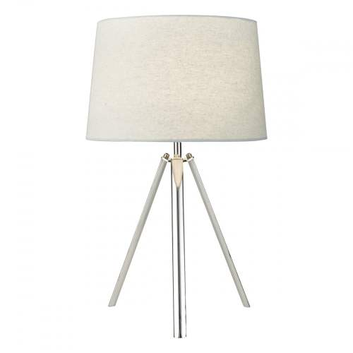 small resolution of chrome tripod table lamp with grey shade