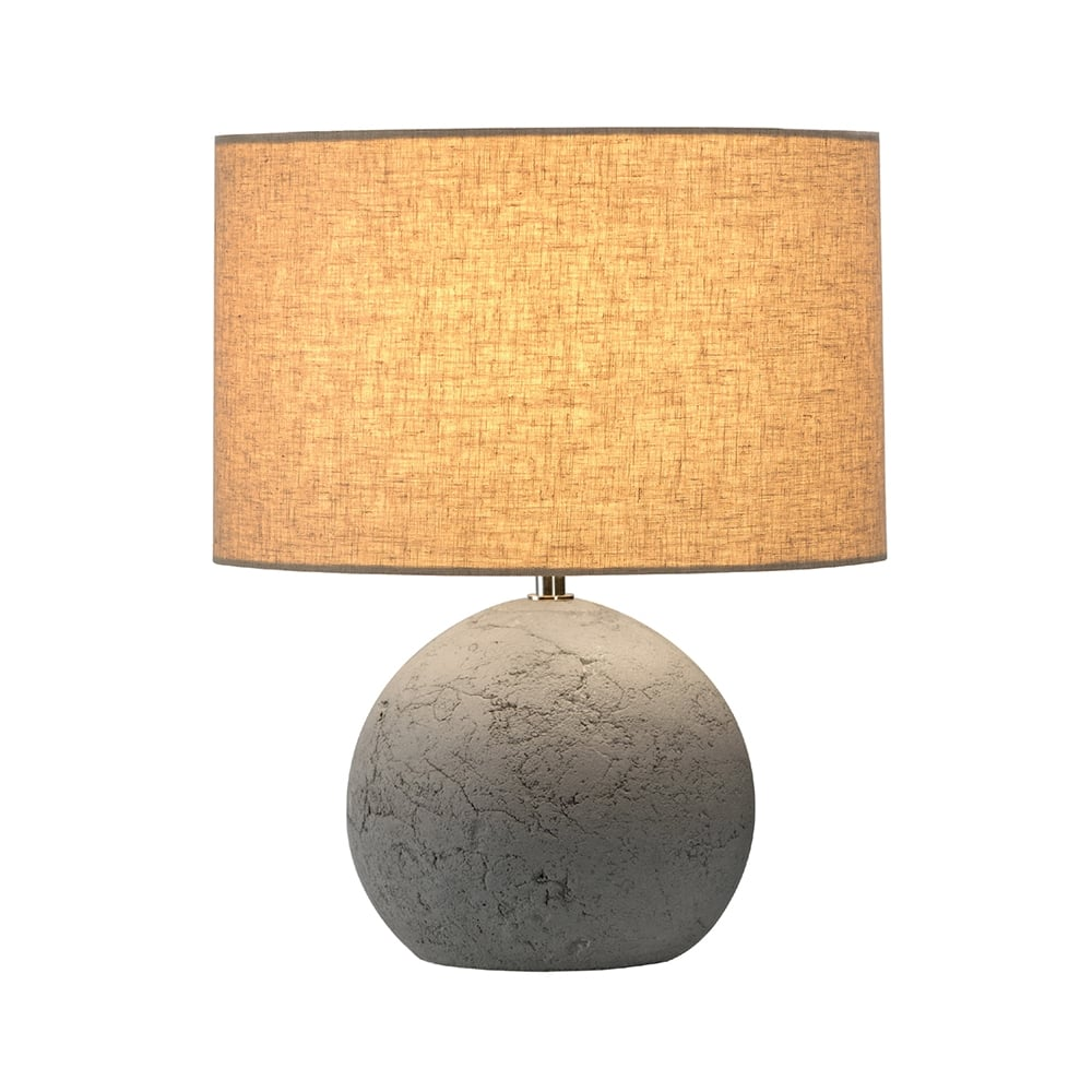 Concrete Base Table Lamp with Shade, Ideal for any Setting