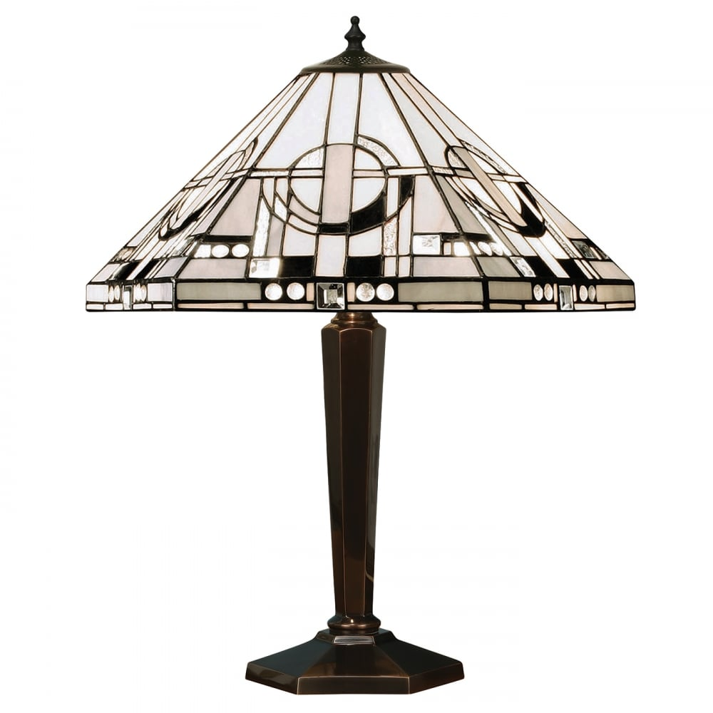 Art Deco Tiffany Table Lamp from Interiors 1900, Silver