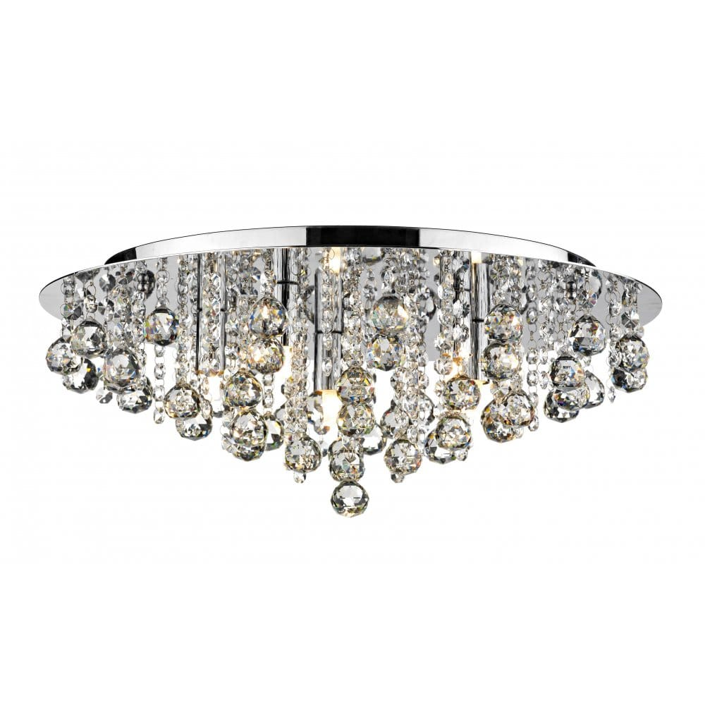 Crystal Flush Chandelier for low Ceiling buy online.