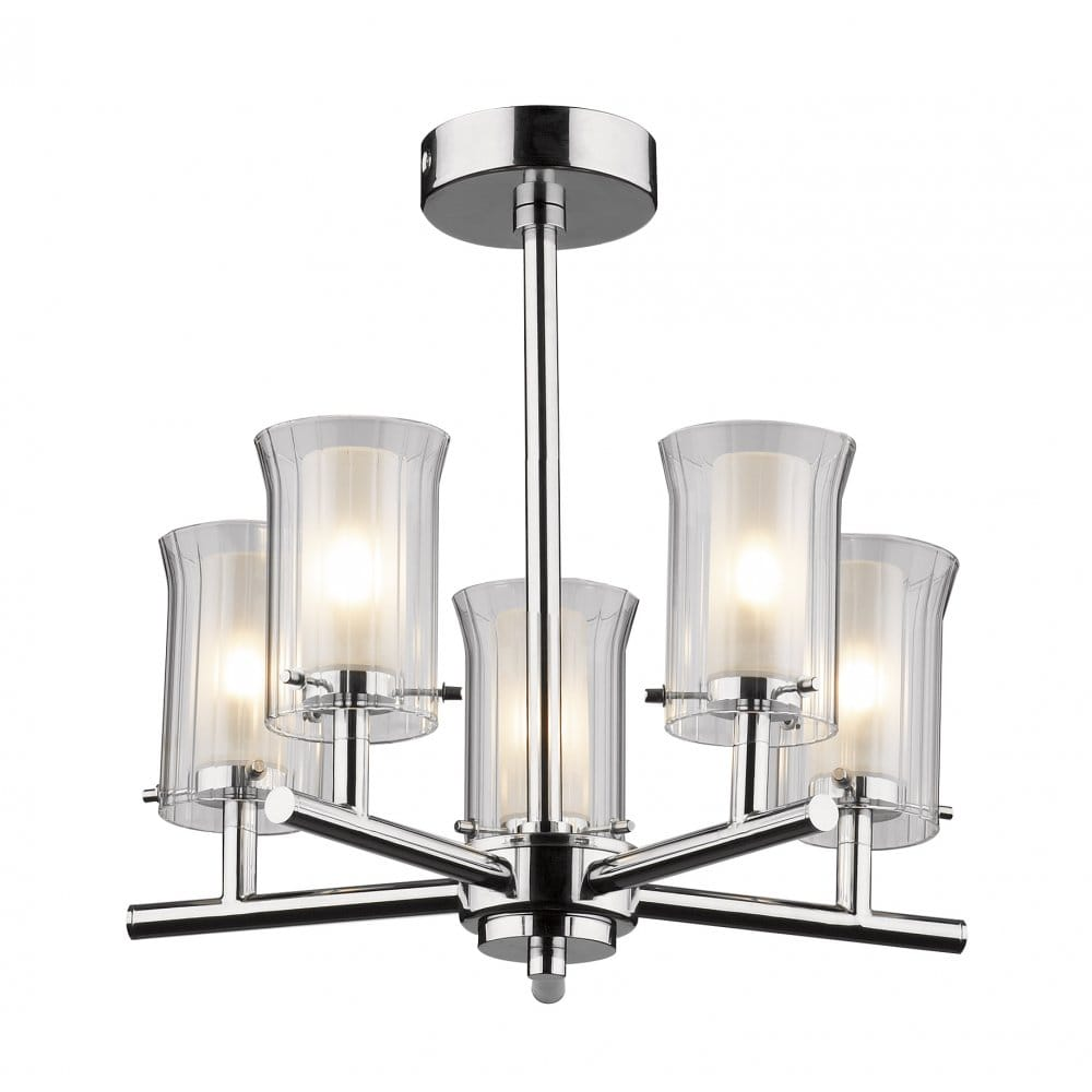 Traditiona or Modern Bathroom Ceiling Light 5 Arm Fitting Glass Shades