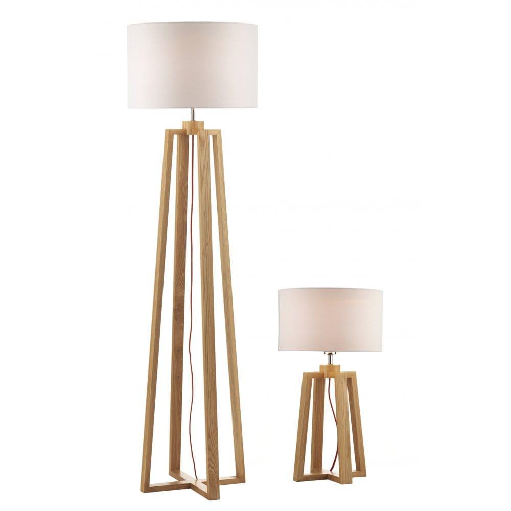 Wooden Table & Floor Lamp