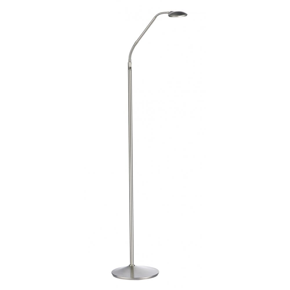 Contemporary Satin Chrome LED Floor Lamp