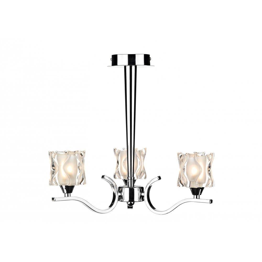 Zola Modern Chrome Light for Low Ceilings