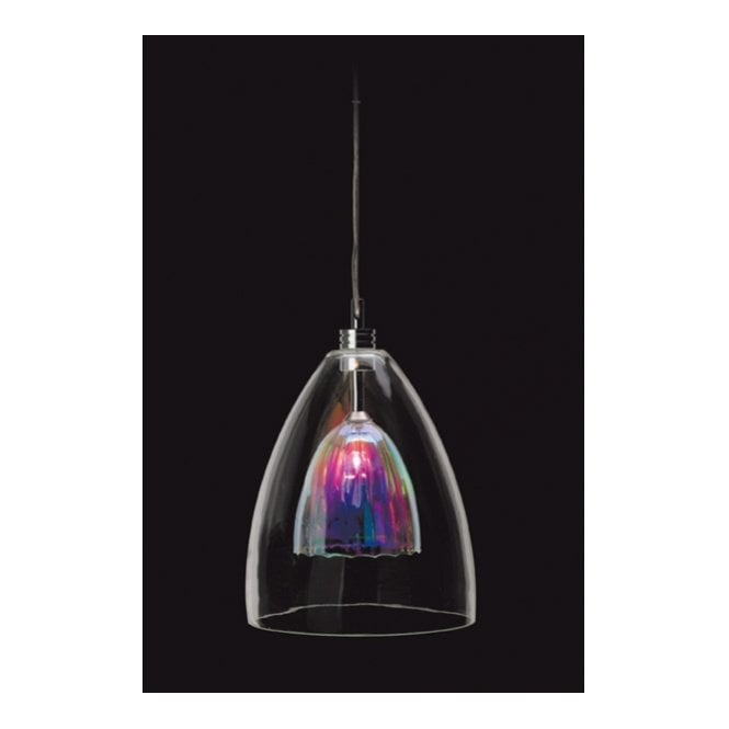 Modern Ceiling Pendant, Dichroic Glass to Give Multi