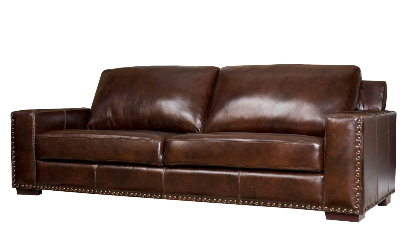 abbyson living belmont leather sofa cheap red chesterfield brown sofas usa