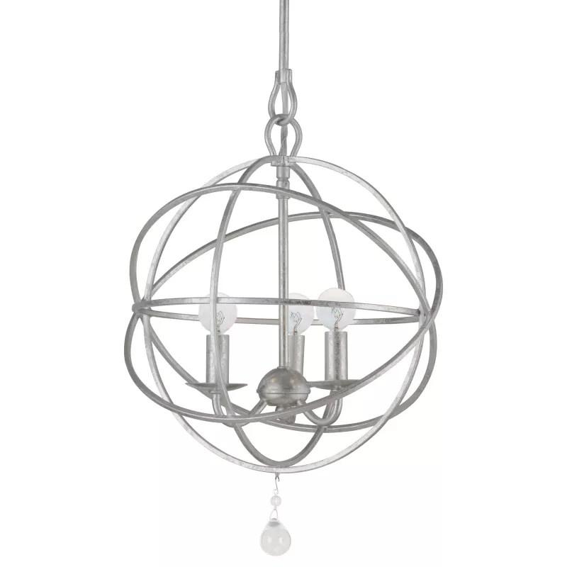 Crystorama Lighting Group 9225-OS Olde Silver Solaris 3