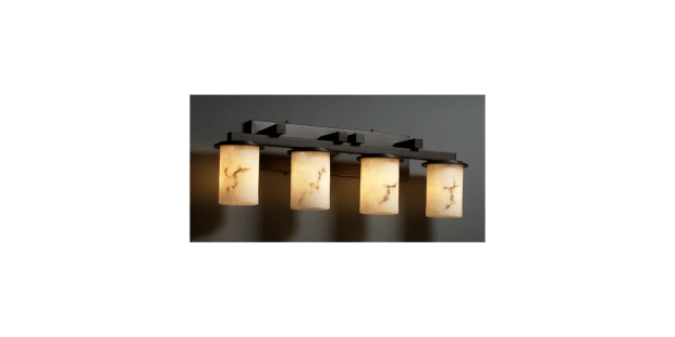 Justice Design Group FAL-8774-NCKL Brushed Nickel Dakota 4 Light Straight Bar Bathroom Fixture ...
