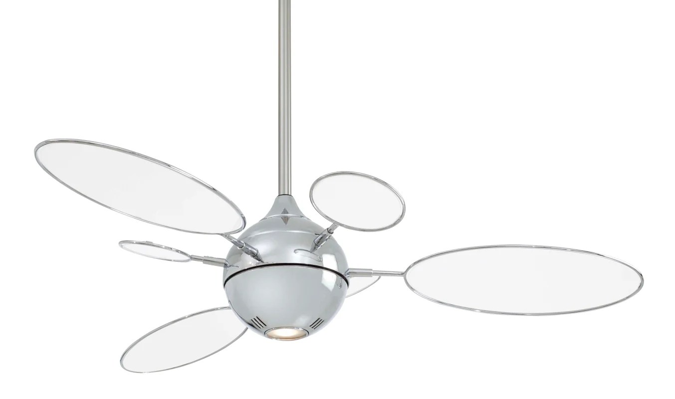 Minkaaire F596 Pn Tl Polished Nickel 6 Blade 54 Ceiling