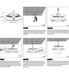 dimmable ufo 100w led high bay light 200w hps mh bulb equivalent le rh lightingever com 12v dc wiring diagram 12v strobe light wiring diagram [ 1000 x 1000 Pixel ]