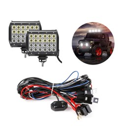 bundle 72w cree off road led work light bars with wiring harness kit [ 1200 x 1200 Pixel ]