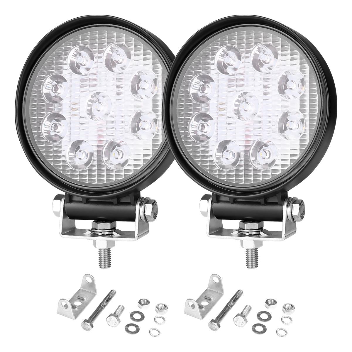 27W 1800 Lumens Off Road LED Headlights, Cree and IP67