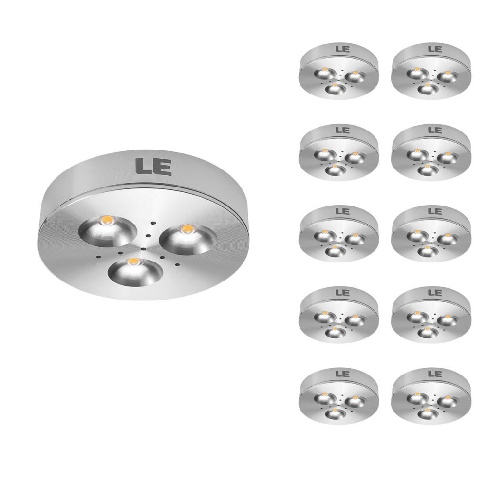 medium resolution of pack of 10 units led under cabinet lighting puck lights 12v dc under counter lighting 25w halogen replacement 240lm warm white
