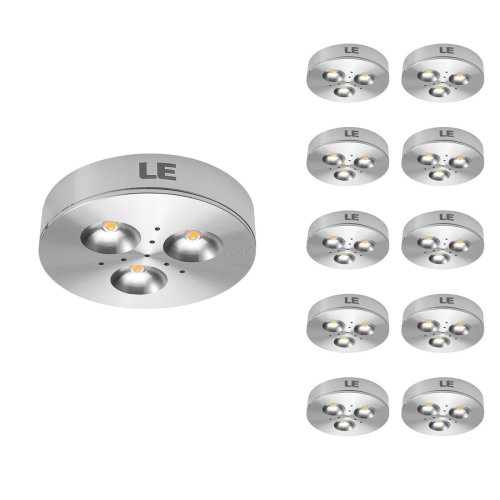 small resolution of pack of 10 units led under cabinet lighting puck lights 12v dc under counter lighting 25w halogen replacement 240lm warm white