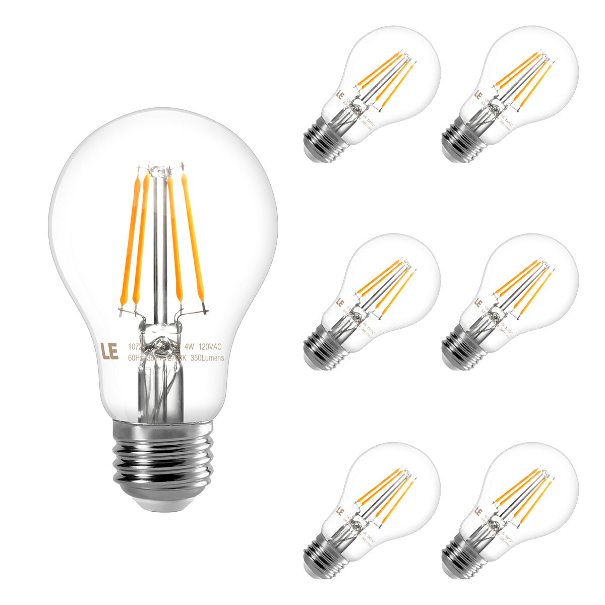 4w Warm White A19 E26 Led Light Bulbs 40 Watt Incandescent Equivalent