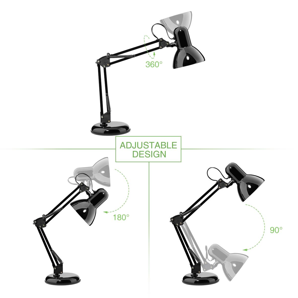Swing Arm Desk Lamp C Clamp Table Lamp Flexible Arm
