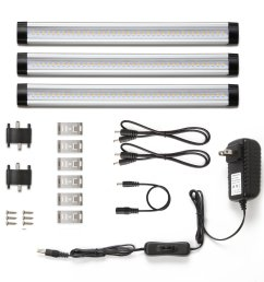 under cabinet led lighting 3 panel kit total of 12w 900lm 12v warm white 24w fluorescent tube equivalent all accessories included [ 1500 x 1500 Pixel ]