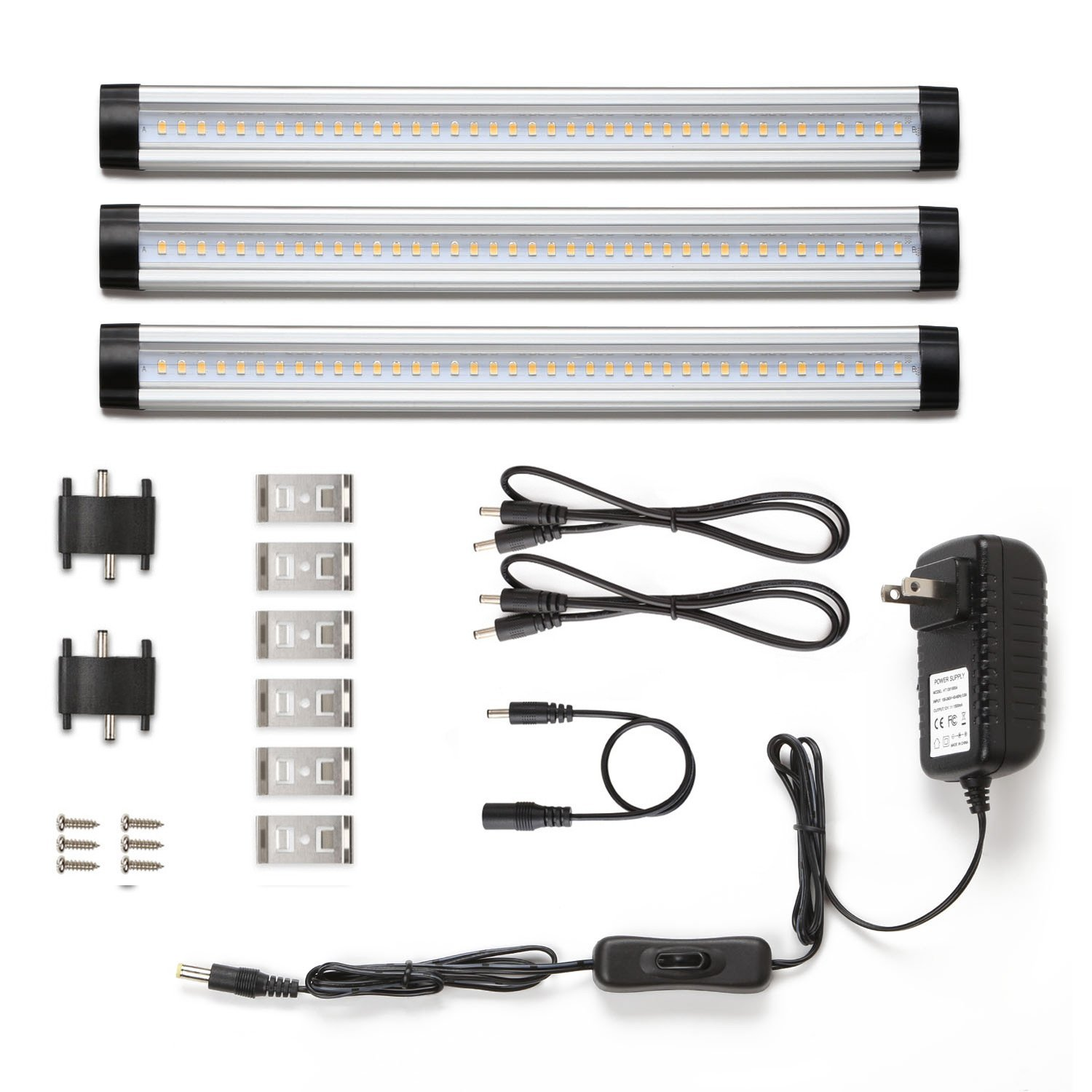 hight resolution of under cabinet led lighting 3 panel kit total of 12w 900lm 12v warm white 24w fluorescent tube equivalent all accessories included