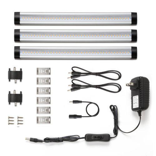 small resolution of under cabinet led lighting 3 panel kit total of 12w 900lm 12v warm white 24w fluorescent tube equivalent all accessories included