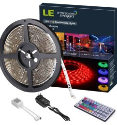 pack of 16 4ft 12v rgb flexible led strip light 150 units 5050 leds colour changing waterproof with remote controller power adaptor included [ 1000 x 1000 Pixel ]