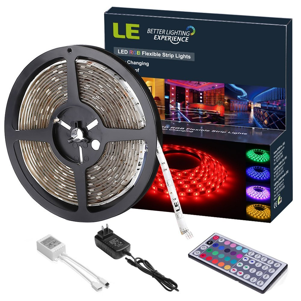 hight resolution of pack of 16 4ft 12v rgb flexible led strip light 150 units 5050 leds colour changing waterproof with remote controller power adaptor included