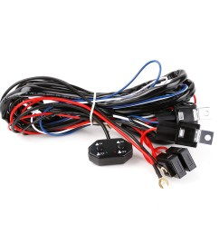 wiring harness kit for 300w off road led work light bars on off switch 12v dc 40amp power relay refuse harness kit for atv utv suv truck jeep [ 1000 x 1000 Pixel ]