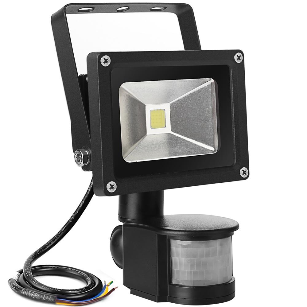 10W LED Strahler mit Bewegungsmelder Auenstrahler  LE