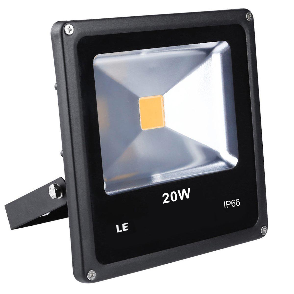 LED Fluter 20W 1300lm Strahler Warmwei wasserdicht