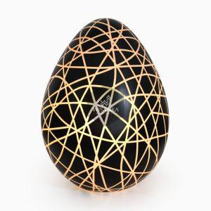 Eggie FLoor Lamp On   Resin Floor Lamp   Egg Floor Lamp