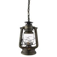 Traditional Lantern Ceiling Light - Black, Gold Finish ...