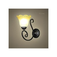 Vintage Wall Light Iron Glass Swing Arm Wall Lamp Indoor