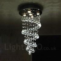 5 Lights Modern LED Crystal Ceiling Pendant Light Indoor ...