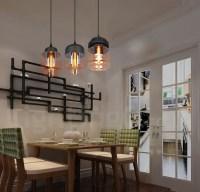 Rustic Glass Pendant Light European Bar Lounge Dining Room ...